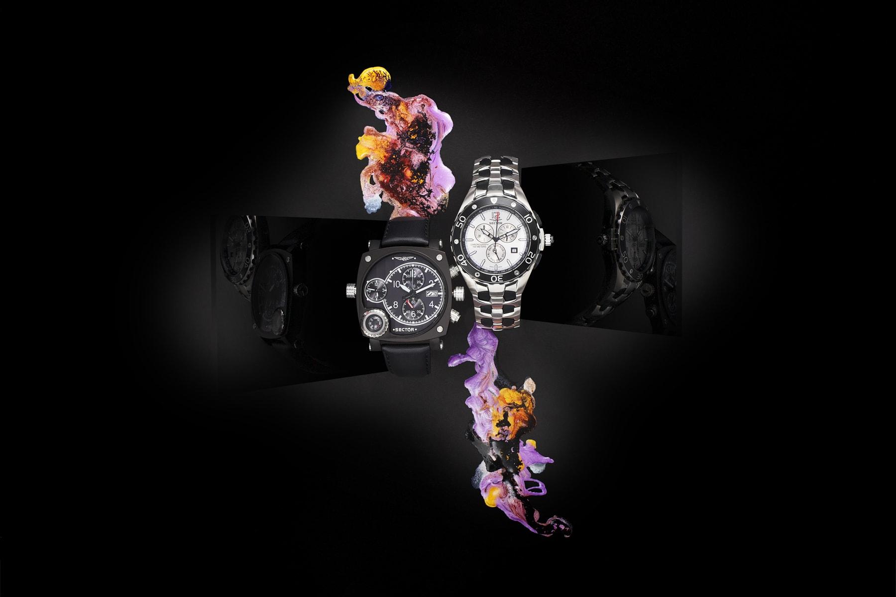 Packshot montre horlogerie Sector - Composition - Crédit Photo Jean-Philippe Martin – Tous droits réservés