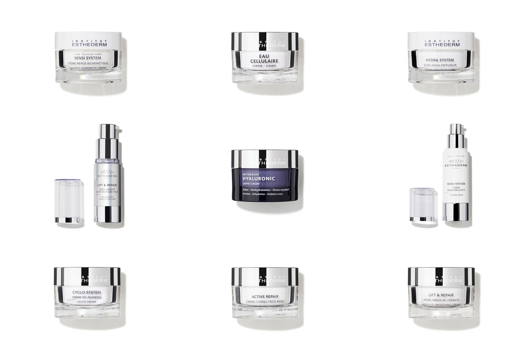 Packshot cosmétiques - Crèmes de soin Esthederme pour Oh My Cream