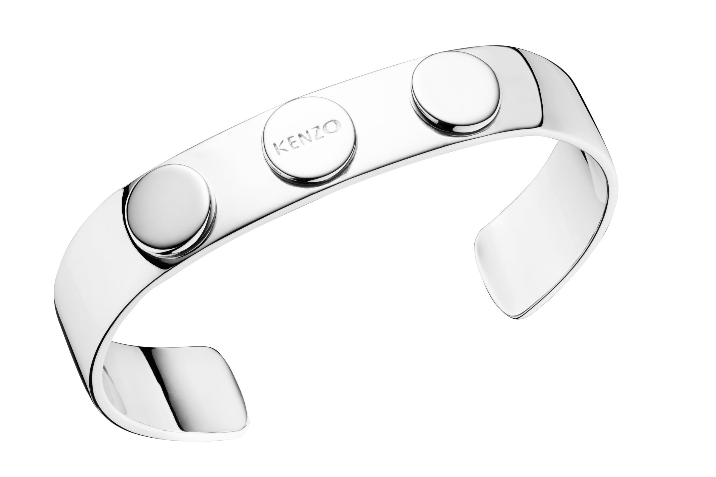Packshot bracelet manchette plaqué argent 925/1000