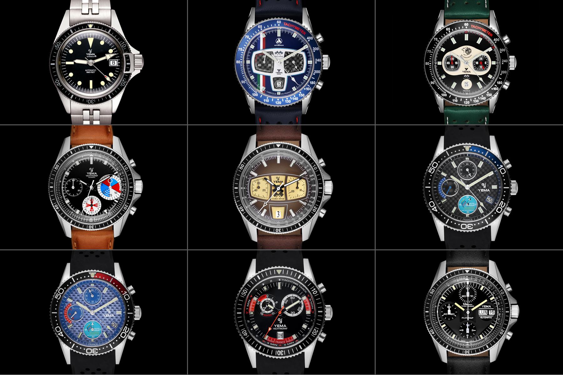 Packshot montre horlogerie - Cadrans montre homme Yema