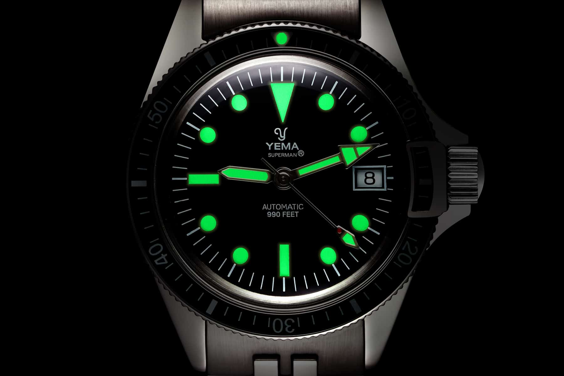Packshot montre homme horlogerie - Détail Cadran Yema