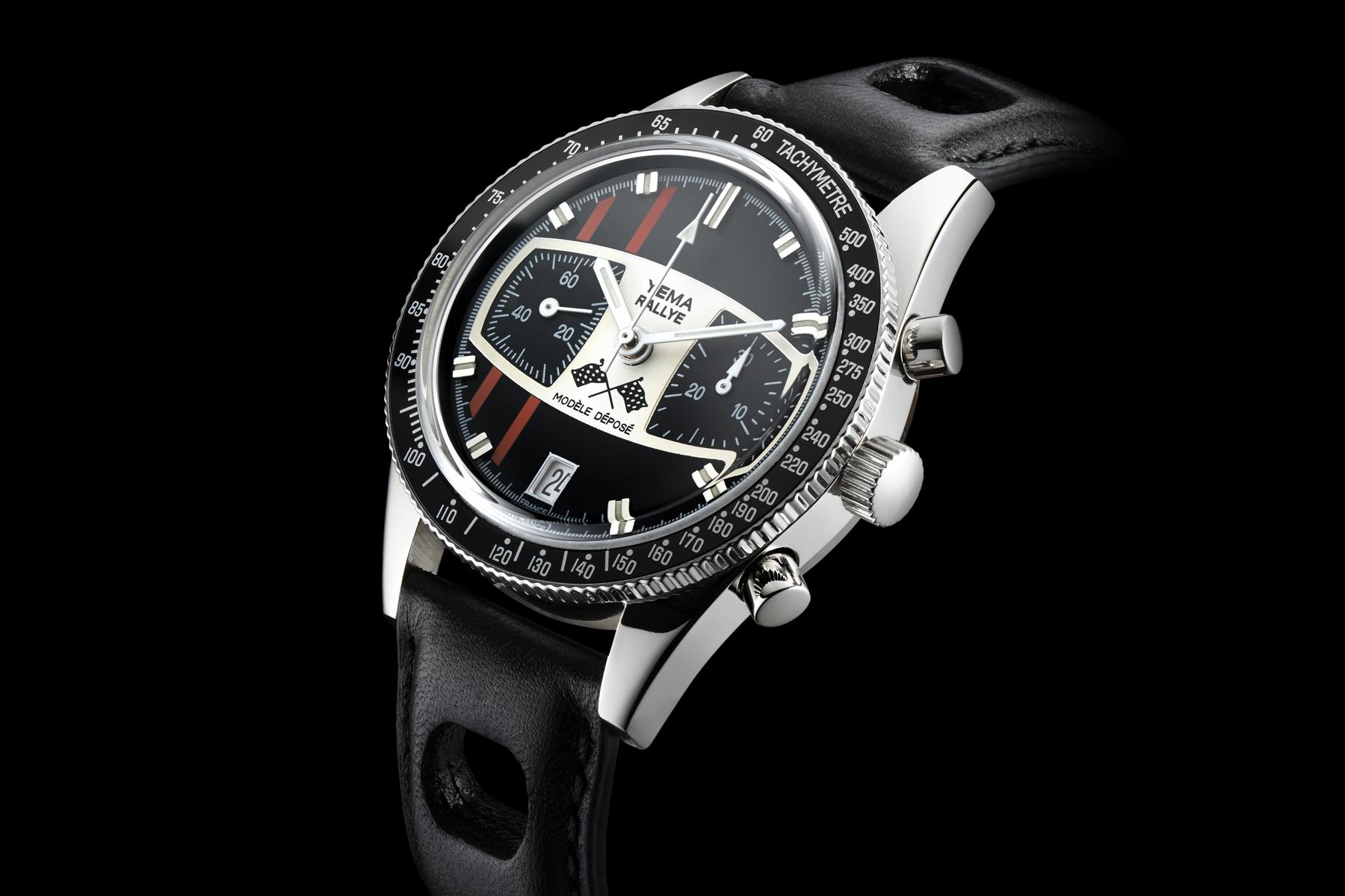 Packshot montre horlogerie Yema - Cadran montre homme