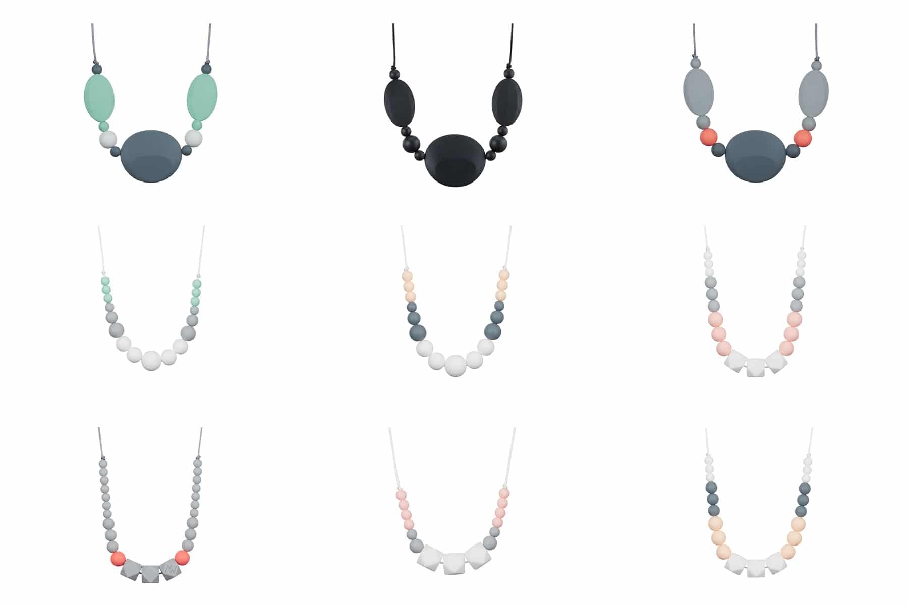 Packshot collier de perles en silicone