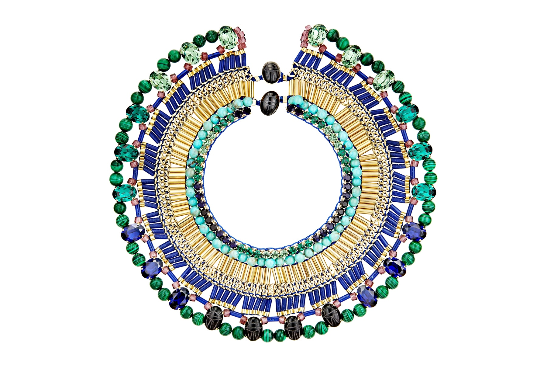 Packshot collier ras de cou perles Miyuki