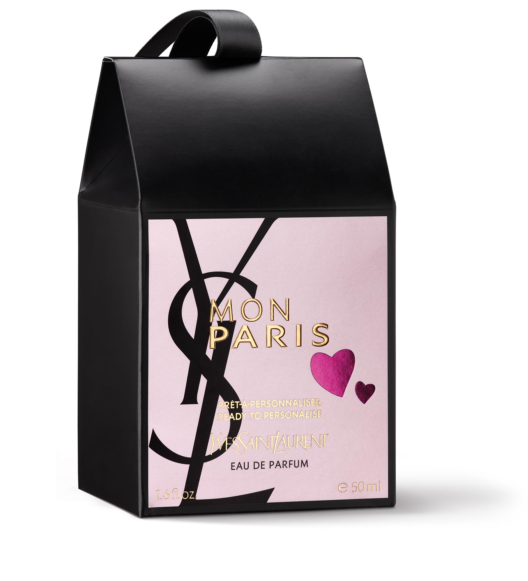 Packshot packaging parfum : Yves Saint Laurent Mon Paris pour Sephora